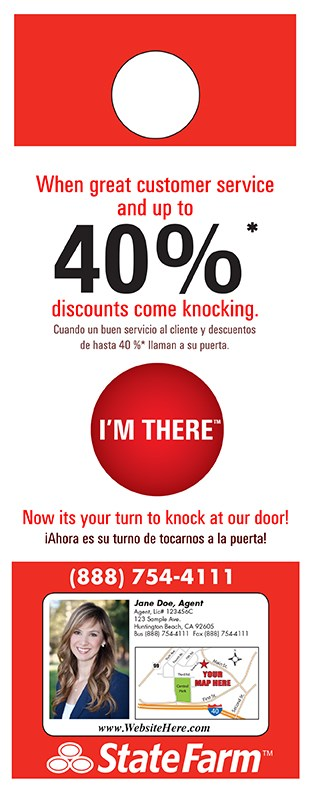 High Quality Door Hanger Printing in Huntington Beach statefarm luz 0812