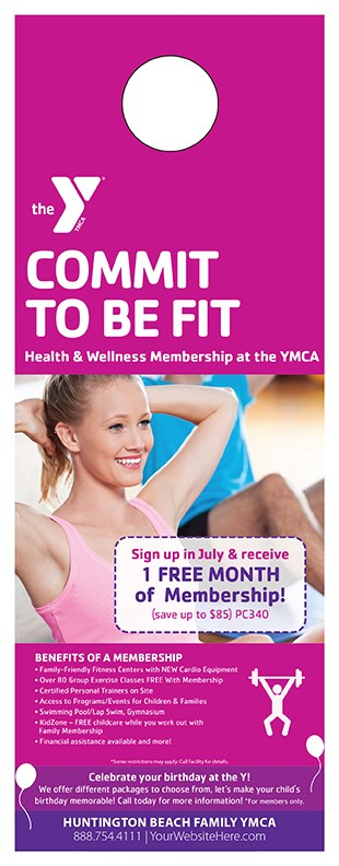 Creating Customer Interaction with Door Hanger Advertising in California ymca fullerton 0616